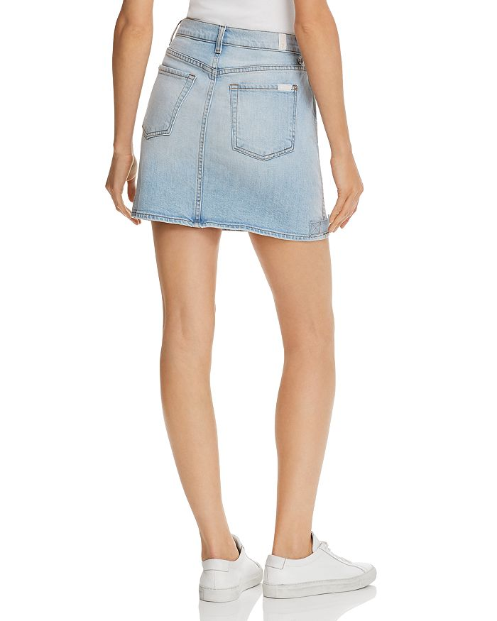 4f3b58a280 7 For All Mankind Moto Denim Mini Skirt in Vintage Dawn | Bloomingdale's