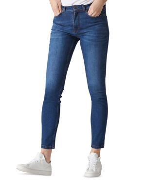 HIGH RISE SKINNY JEANS IN BLUE