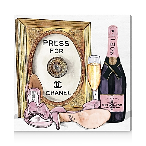Oliver Gal Champagne Cocktail Canvas Art, 12 x 12