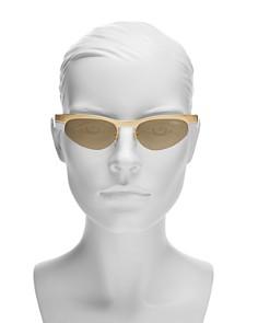 Vogue Eyewear - Gigi Hadid for Vogue Mirrored Wrap Cat Eye Sunglasses, 51mm