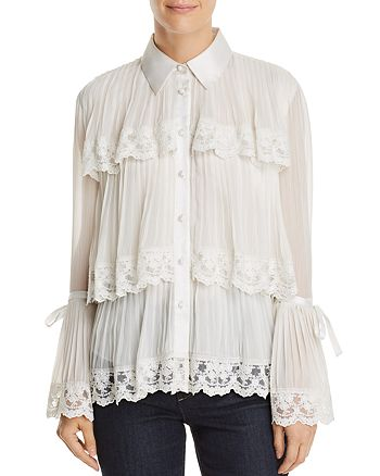 Alice and Olivia - Kartwright Pleated Tiered Blouse