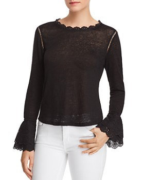 Generation Love - Emma Lace-Up Eyelet Detail Top - 100% Exclusive