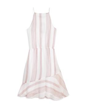 AQUA - Girls' Striped Dress, Big Kid - 100% Exclusive