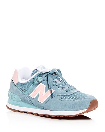 New Balance - Women's Classic 574 Summer Dusk Nubuck Leather Lace Up Sneakers