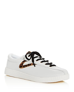 Tretorn - Women's Nylite 25 Plus Leather Lace Up Sneakers