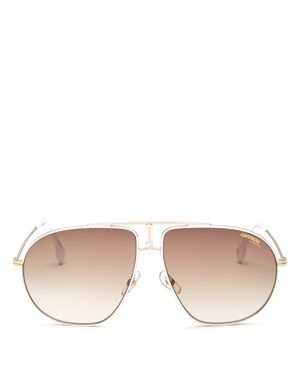 WOMEN'S BROW BAR AVIATOR SUNGLASSES, 60MM