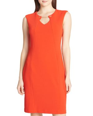 Calvin Klein Chain-Detail Sheath Dress 2981601