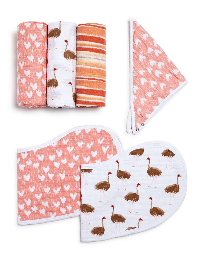Aden and Anais - Flock Together White Label Swaddles & Bibs