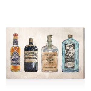 Oliver Gal Hatcher and Ethan Vintage Liquors Canvas Art, 15 x 10