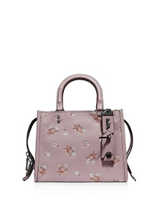 COACH - Floral Bow & Sequin Glovetanned Leather Rogue 25 Satchel