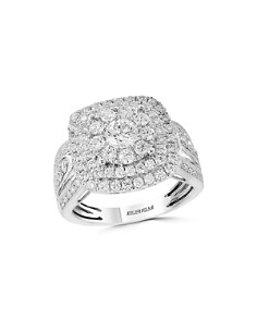 Bloomingdale's - Diamond Cluster Ring in 14K White Gold, 1.85 ct. t.w. - 100% Exclusive