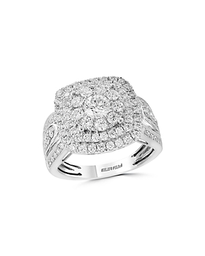 Bloomingdale's Diamond Cluster Ring in 14K White Gold, 1.85 ct. t.w. - 100% Exclusive