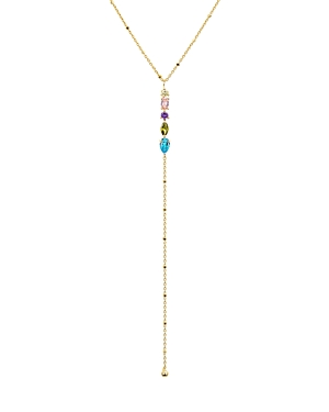 Argento Vivo Watermelon Rainbow Lariat Necklace, 18