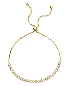 AQUA - Pavé Slider Bracelet in 18K Gold-Plated Sterling Silver or Sterling Silver - 100% Exclusive