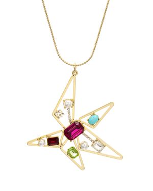 RJ GRAZIANO ABSTRACT STAR PENDANT NECKLACE, 28