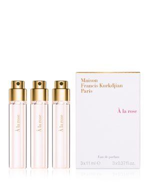 MAISON FRANCIS KURKDJIAN À La Rose Eau De Parfum Travel Spray Refills, 3 X 0.37 Oz./ 11 Ml