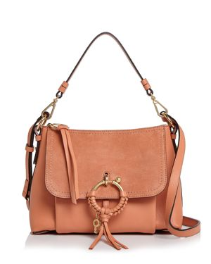 SEE BY CHLOE JOAN SMALL LEATHER & SUEDE CONVERTIBLE SHOULDER BAG