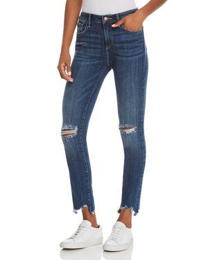 Aqua Distressed High-Rise Skinny Jeans in Medium Wash - 100% Exclusive 3030964