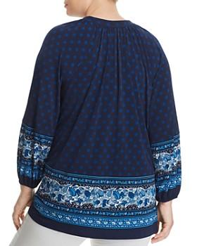 b760c4e5832e ... MICHAEL Michael Kors Plus - Batik Border Print Peasant Top