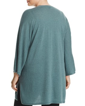Eileen Fisher Plus - Cashmere Open-Front Cardigan
