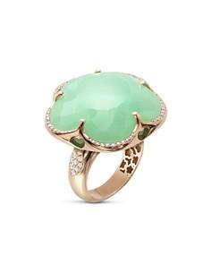 Pasquale Bruni 18K Rose Gold Bon Ton Chrysoprase & Diamond Floral Ring - Bloomingdale's_0
