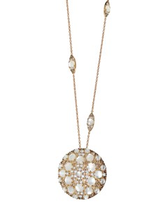 "Pasquale Bruni 18K Rose Gold Diamond, Champagne Diamond & Mother of Pearl Pendant Necklace, 15.75"" - Bloomingdale's_0"