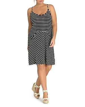 City Chic Plus Beachy Days Striped Knit Dress