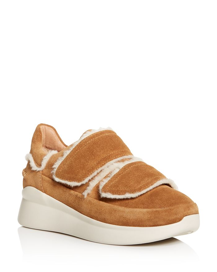 UGG® - Women's Ashby Round Toe Fur & Suede Sneaker