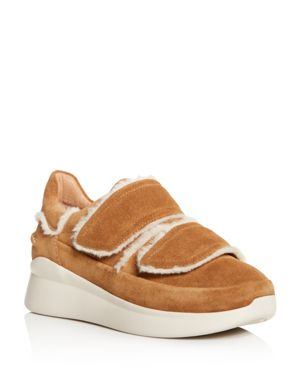 Women'S Ashby Round Toe Fur & Suede Sneaker, Chesnut