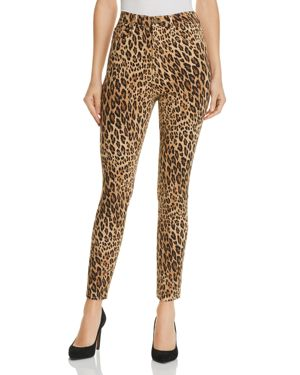 Ali Leopard Print High-Rise Cigarette Jeans In Camel Multi in Neutrals