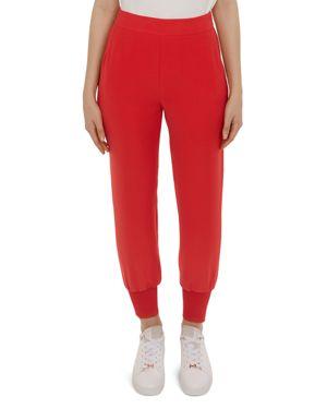 Neena Crepe Jogger Pants, Bright Red