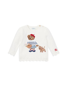 Ralph Lauren - Girls' Paris Bear Sweater - Baby