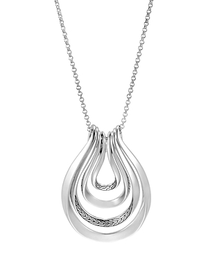 John Hardy Sterling Silver Classic Chain Multi-Row Pendant Necklace-Jewelry & Accessories