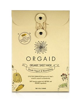 ORGAID - Greek Yogurt & Nourishing Organic Sheet Masks, Set of 4