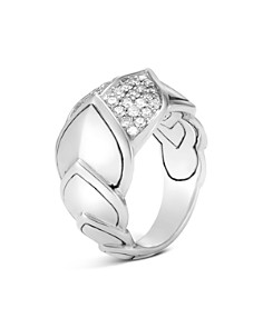 JOHN HARDY - Sterling Silver Legends Naga Pavé Diamond Ring