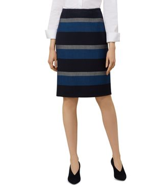NORA STRIPED PENCIL SKIRT