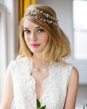 Brides and Hairpins - Gia Halo Headpiece