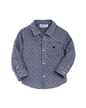 Armani Junior Boys' Check Woven Shirt - Baby
