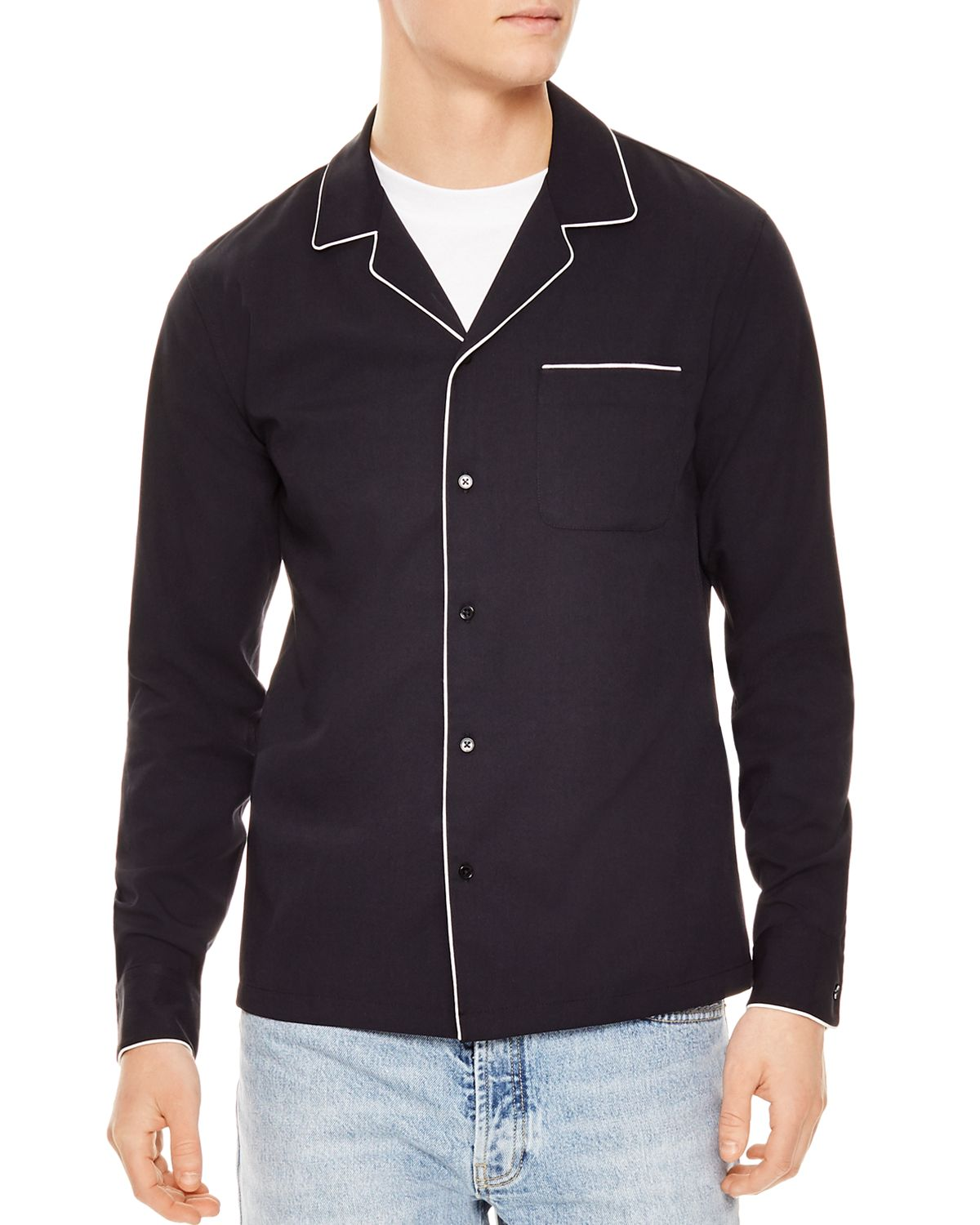 Night Slim Fit Button Down Shirt by Sandro