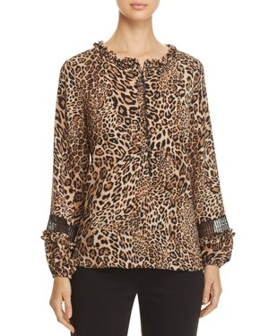 LE GALI REED LEOPARD-PRINT BLOUSE - 100% EXCLUSIVE