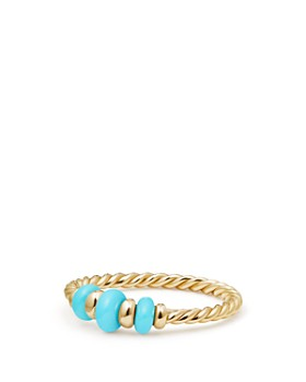 David Yurman - Rio Rondelle Ring with Turquoise & 18K Gold