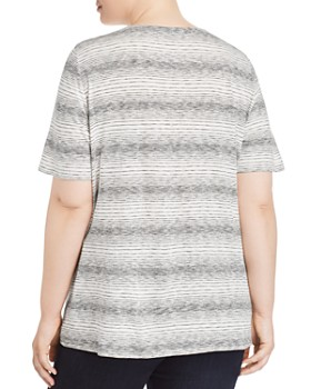 Eileen Fisher Plus - Variegated Striped Tee