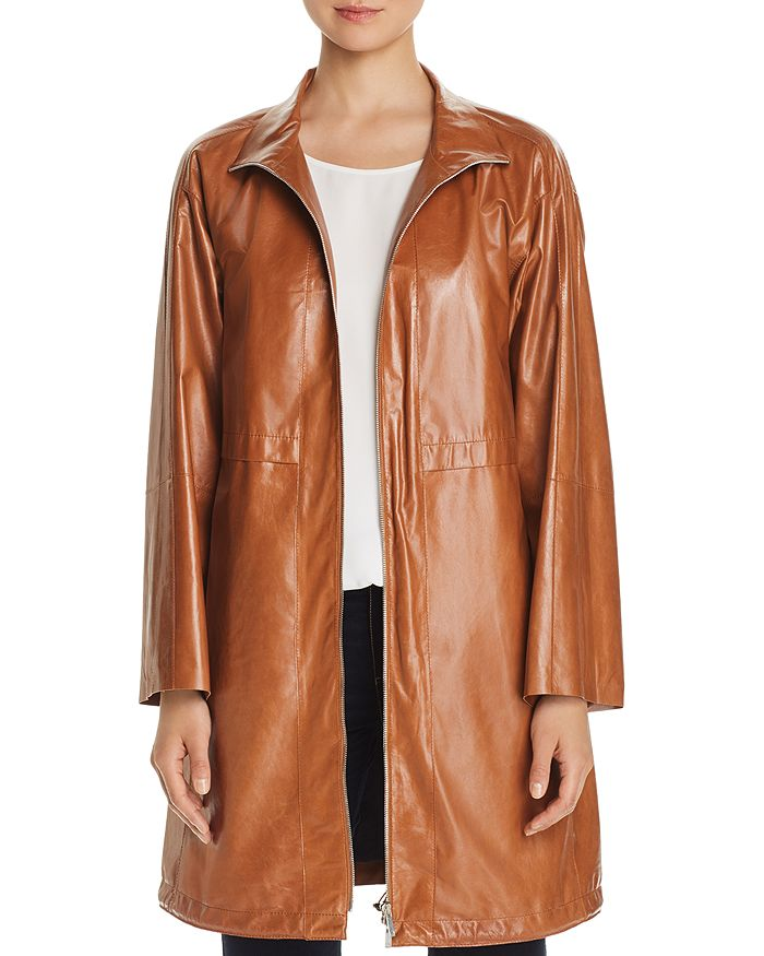 Lafayette 148 New York - Minerva Leather Anorak Jacket