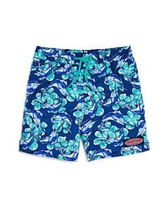 Vineyard Vines - Boys' Marlin Flower Chappy Swim Trunks - Little Kid, Big Kid