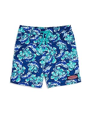 Vineyard Vines Boys' Marlin Flower Chappy Swim Trunks - Little Kid, Big Kid