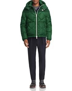 Moncler - Arles Convertible Down Jacket, Wool Sweater & Cropped Wool Pants