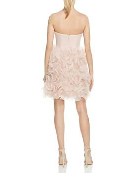 HALSTON HERITAGE - Strapless Ruffled Dress