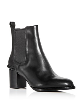 Ash - Women's Vertigo Studded Leather Block-Heel Booties