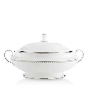 Lenox Pearl Platinum Covered Vegetable Bowl-Home