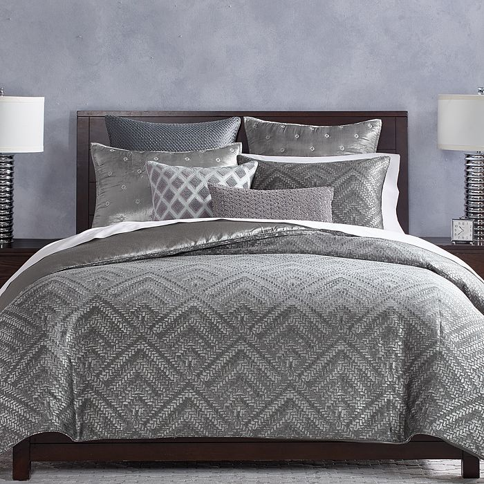 Hudson Park Collection - Woven Diamond Bedding Collection - 100% Exclusive